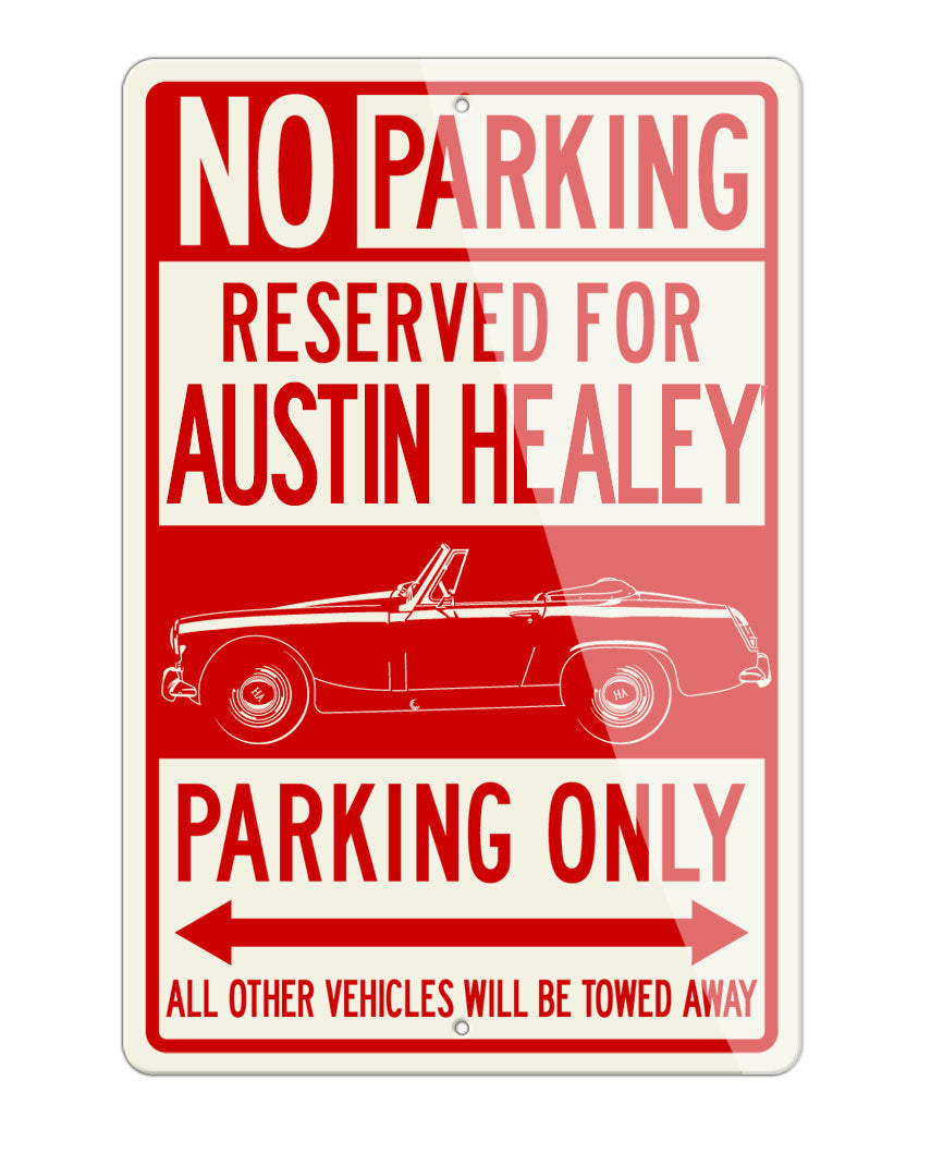 Austin Healey Sprite MKII MKIII Roadster Reserved Parking Only Sign
