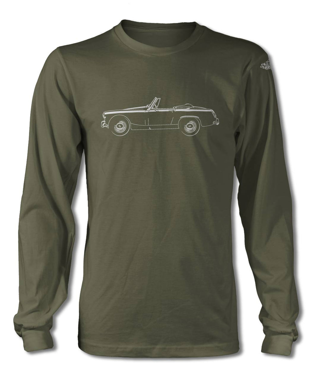 Austin Healey Sprite MKII MKIII Roadster T-Shirt - Long Sleeves - Side View