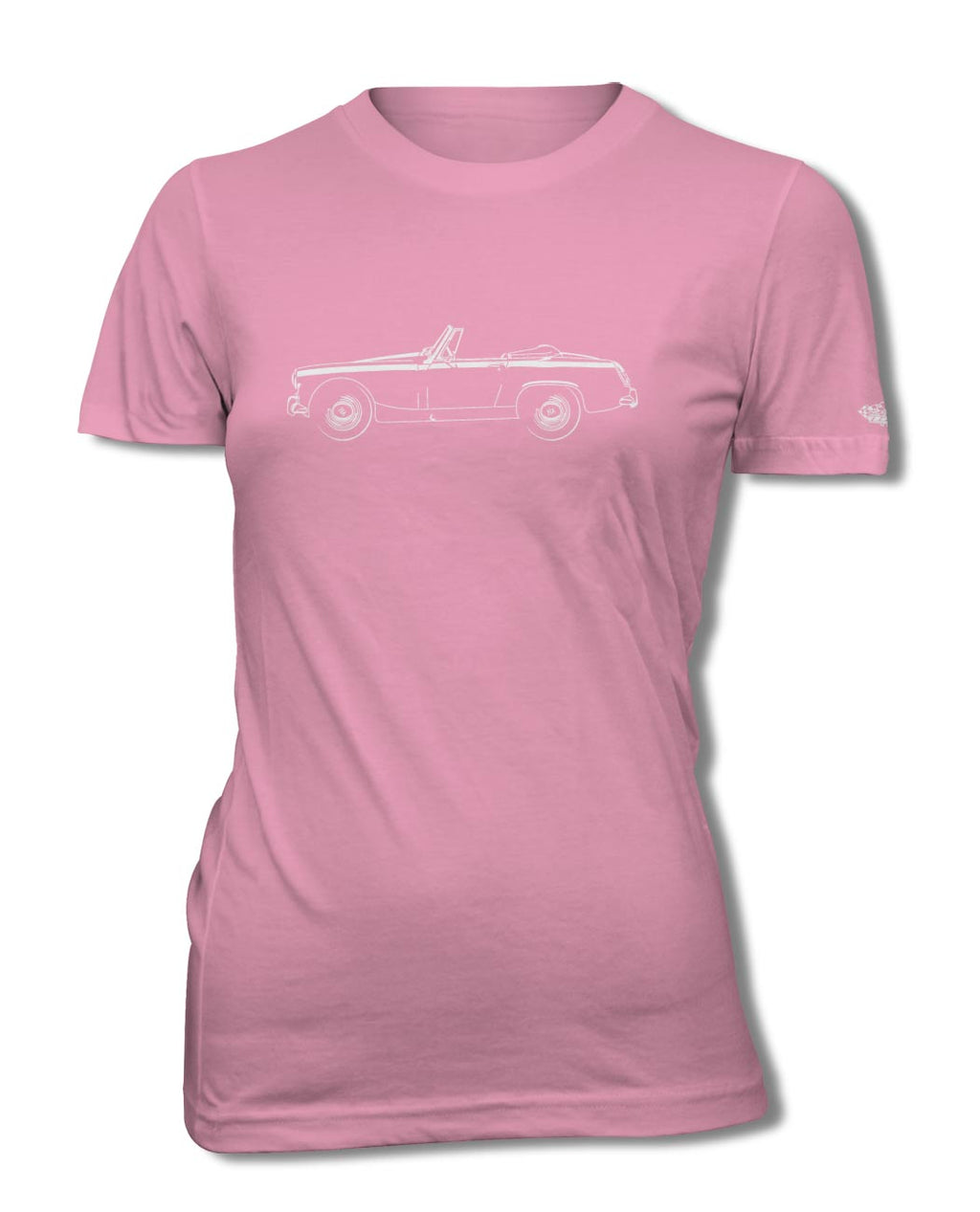 Austin Healey Sprite MKII MKIII Roadster T-Shirt - Women - Side View