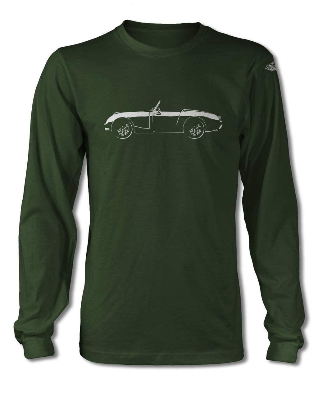 Austin Healey Sprite MKI Roadster T-Shirt - Long Sleeves - Side View
