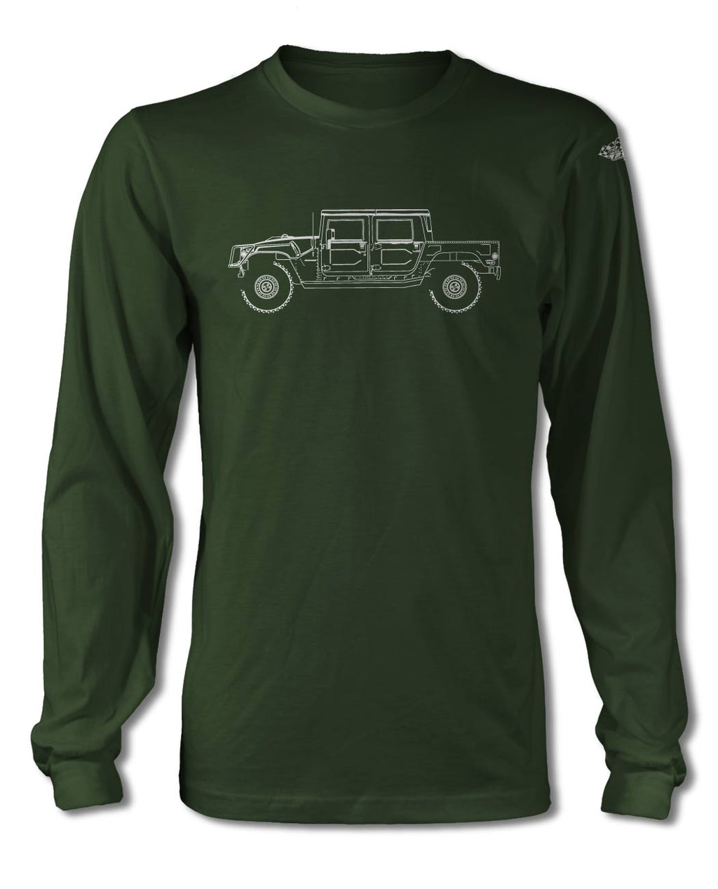 Hummer H1 Pick-Up 4x4 T-Shirt - Long Sleeves - Side View