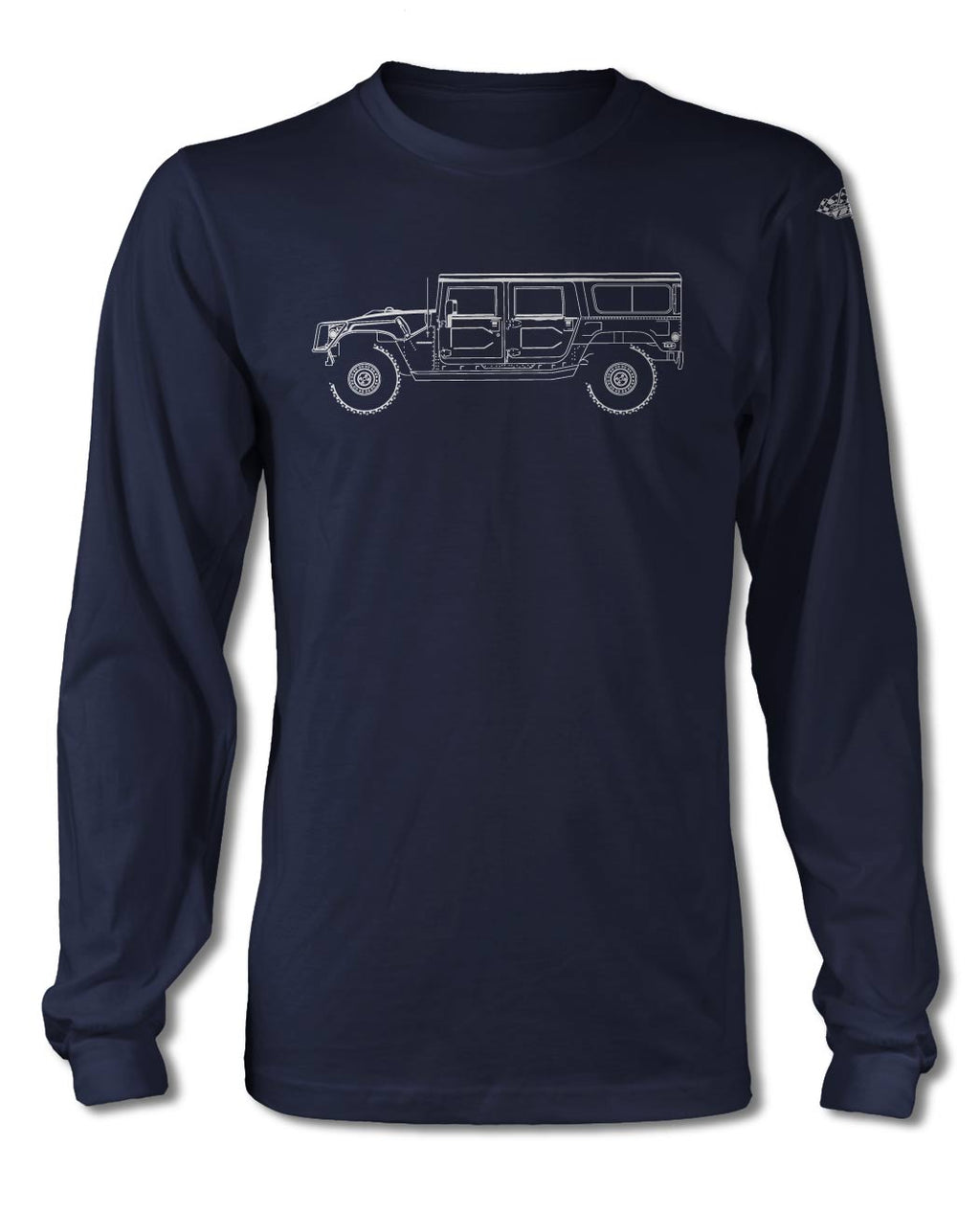 Hummer H1 Station Wagon 4x4 T-Shirt - Long Sleeves - Side View