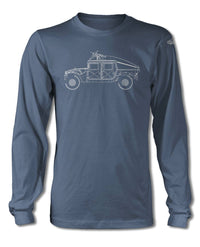 Hummer H1 Military Slantback 4x4 T-Shirt - Long Sleeves - Side View