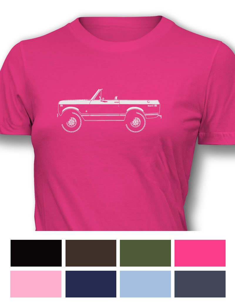 International Scout II 1971 Women T-Shirt - Side View