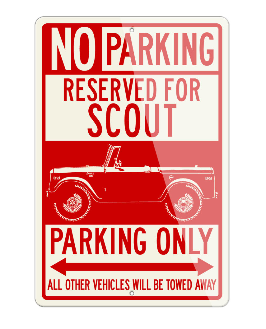 1960 - 1965 International Scout I Reserved Parking Only Sign