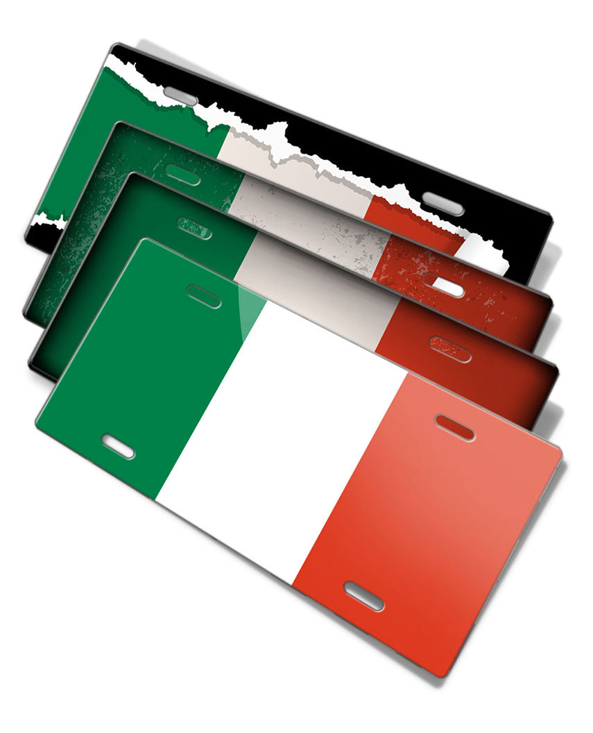 Italian Flag Novelty License Plate