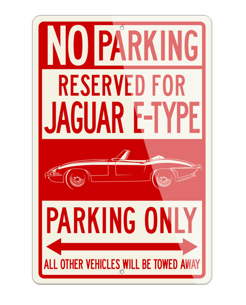 Jaguar E-Type XKE Convertible Reserved Parking Only Sign