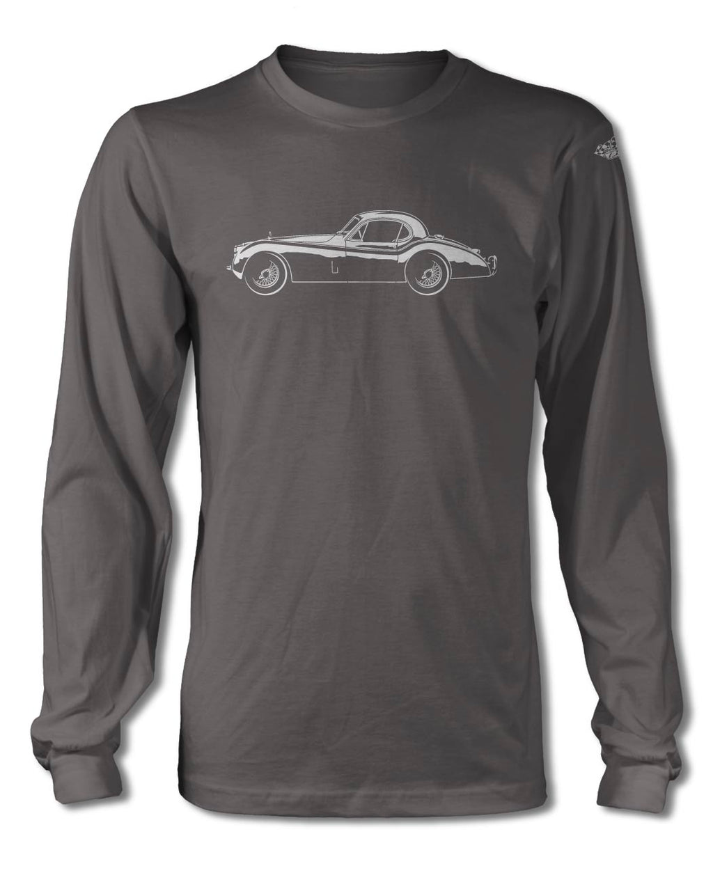 Jaguar XK 120 Coupe T-Shirt - Long Sleeves - Side View