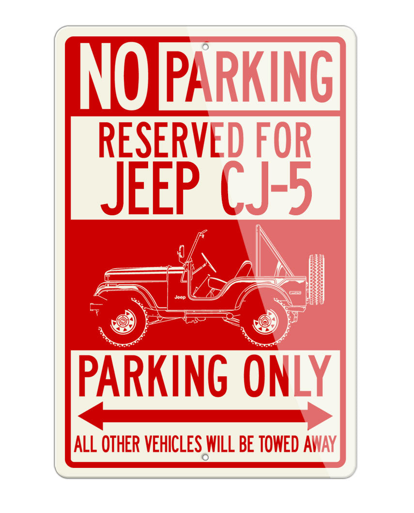 1972 - 1983 Jeep CJ5 CJ-5 Reserved Parking Only Sign