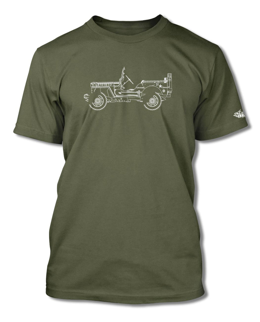 Jeep Willys WWII 1941 - 1945 T-Shirt - Men - Side View