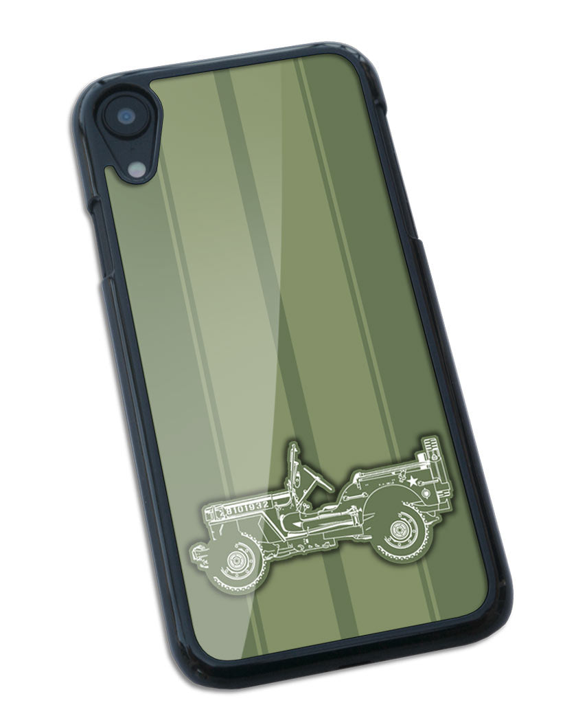 Jeep Willys WWII 1941 - 1945 Smartphone Case - Racing Stripes