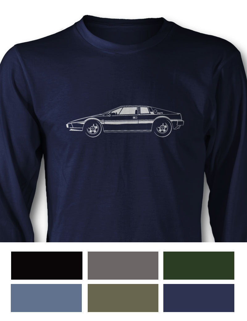 Lotus Esprit Coupe Long Sleeve T-Shirt - Side View
