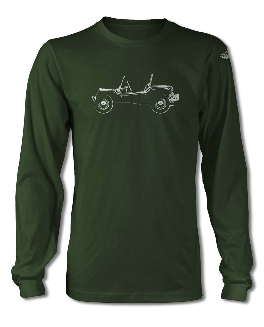 1964 Meyers Manx Buggy VW T-Shirt - Long Sleeves - Side View