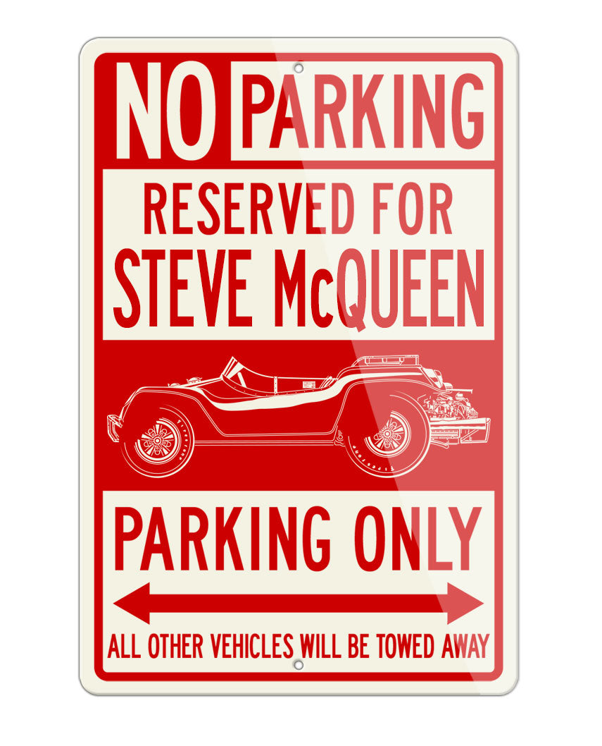 1968 Meyers Manx Steve McQueen Dune Buggy 1968 Reserved Parking Only Sign