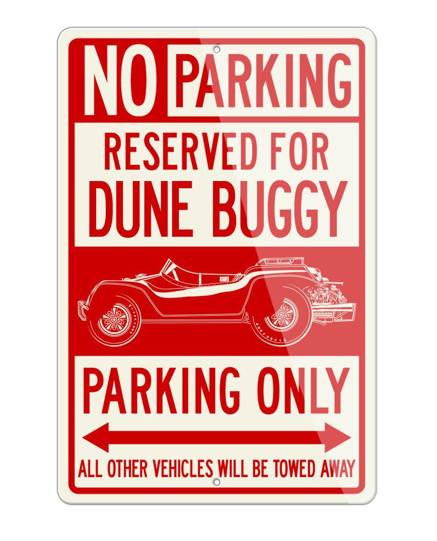 1968 Meyers Manx McQueen Dune Buggy 1968 Reserved Parking Only Sign