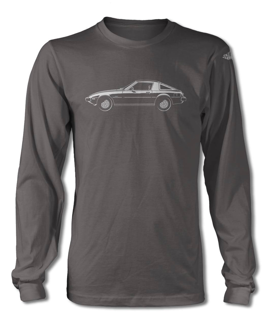 Mazda RX-7 S1 First generation 1978 - 1985 T-Shirt - Long Sleeves - Side View