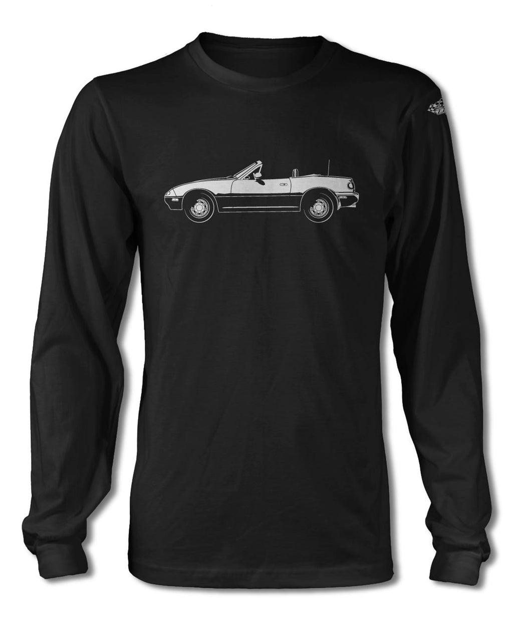 Mazda Miata MX-5 Convertible T-Shirt - Long Sleeves - Side View