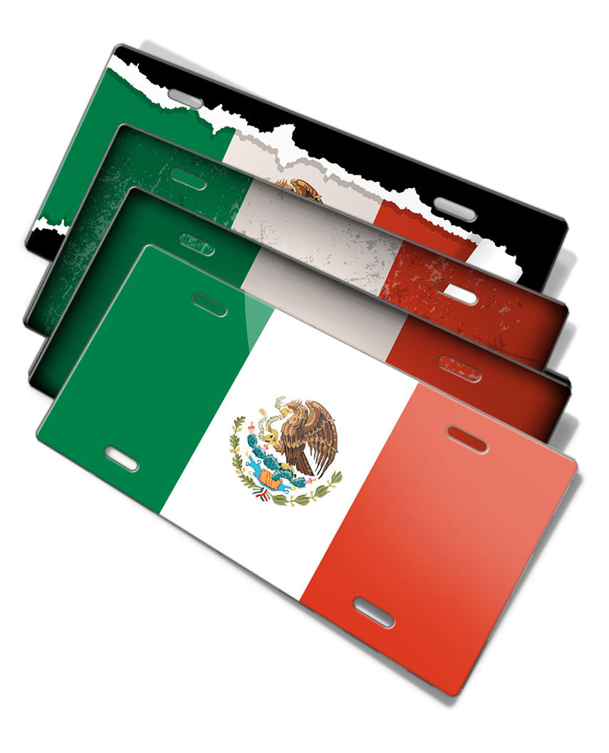 Mexican Flag Novelty License Plate