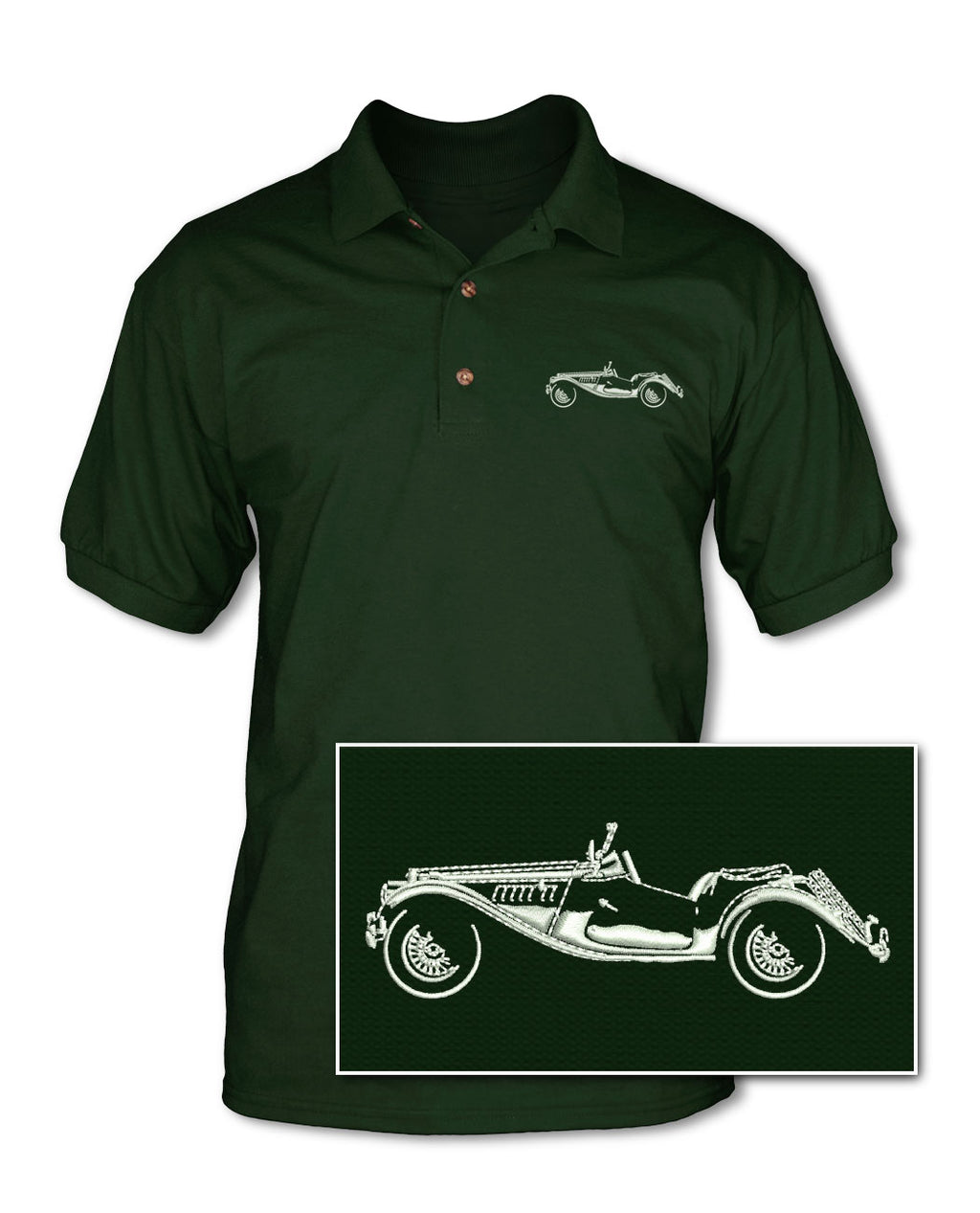 MG TF Roadster Adult Pique Polo Shirt - Side View