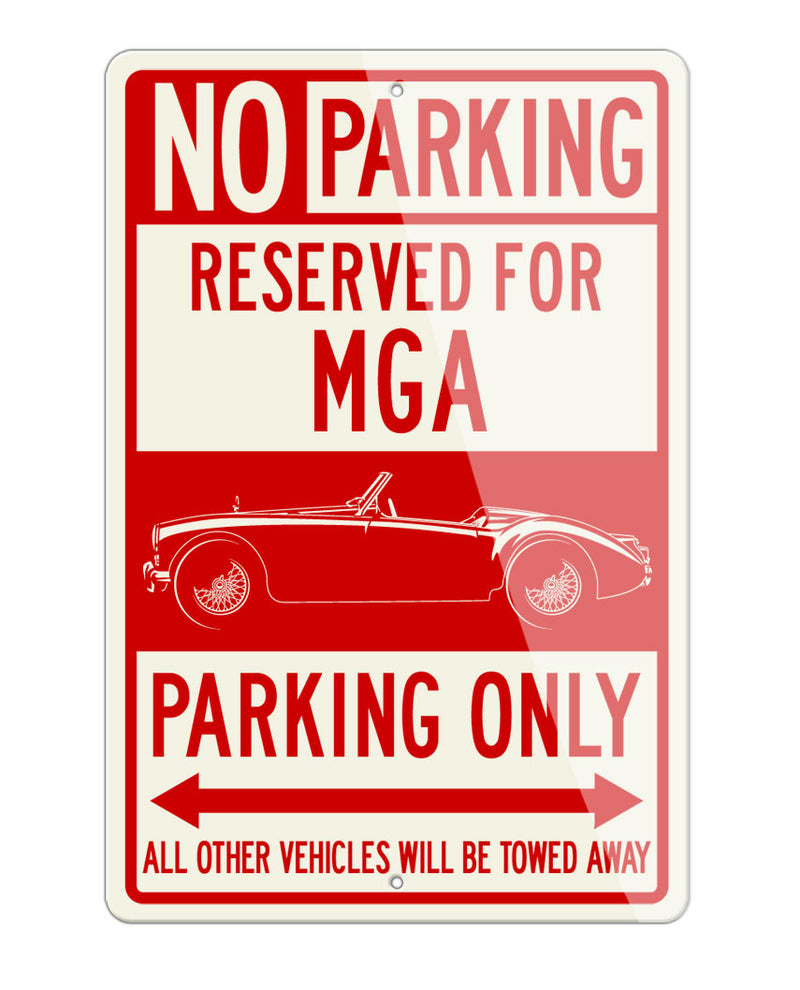 MG MGA Convertible Reserved Parking Only Sign