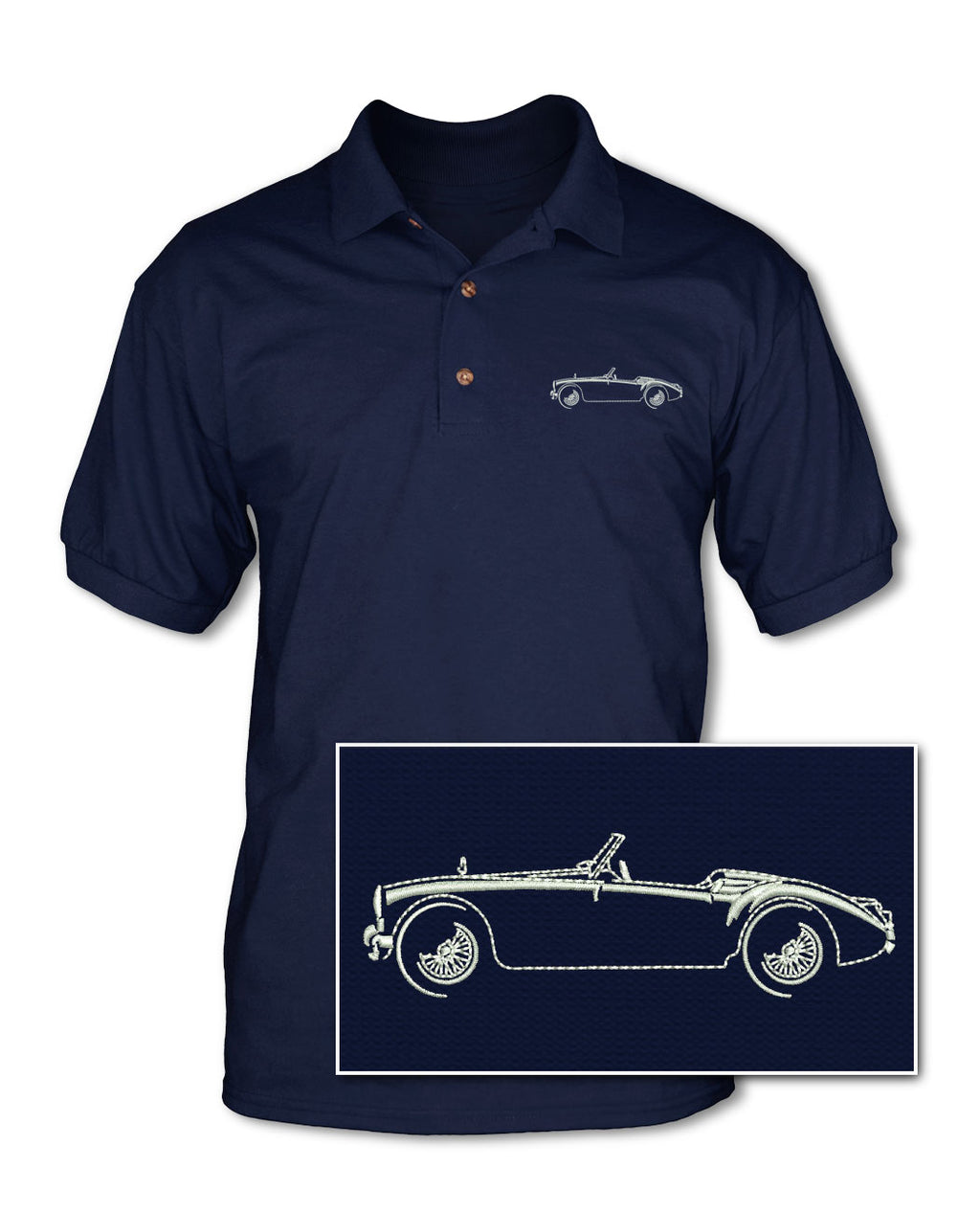 MG MGA Convertible Adult Pique Polo Shirt - Side View