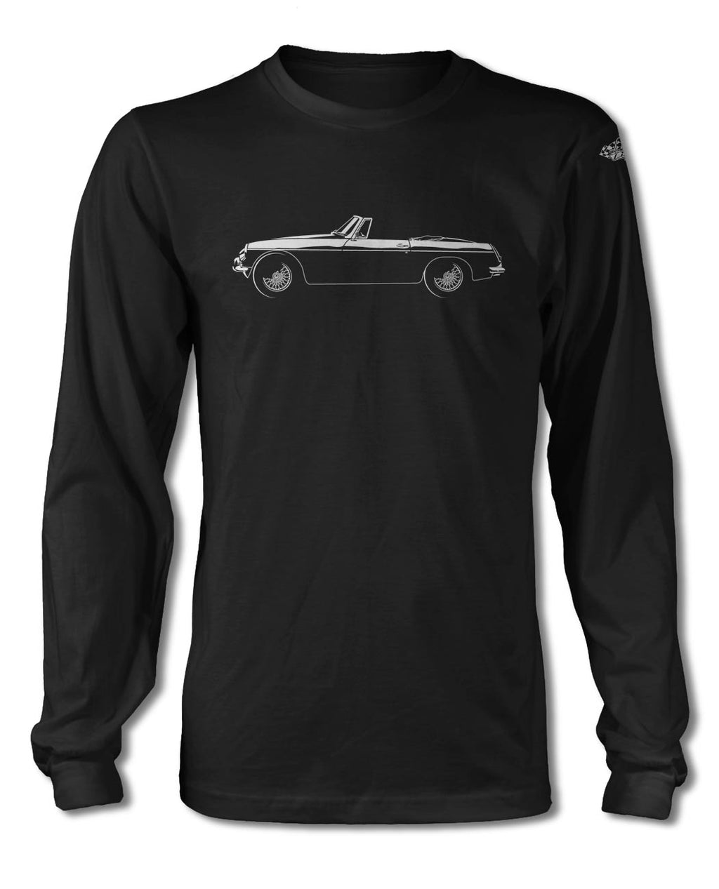 MG MGB Convertible T-Shirt - Long Sleeves - Side View