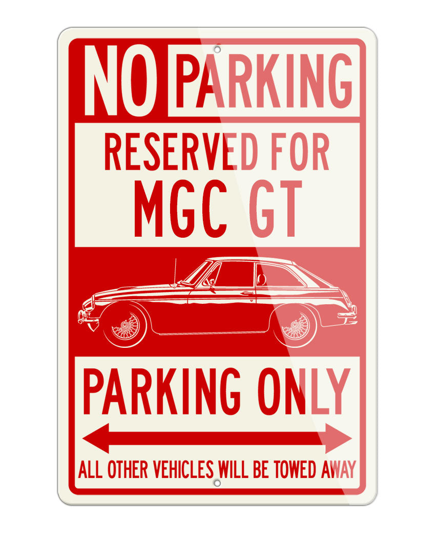 MG MGC GT Coupe Reserved Parking Only Sign