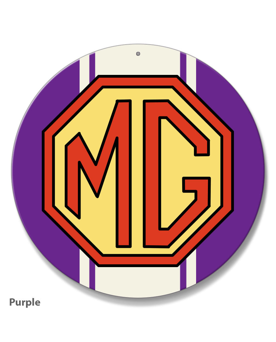 MG Emblem Round Aluminum Sign