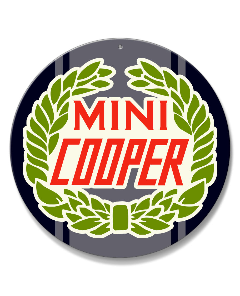 Mini Cooper Emblem Round Aluminum Sign