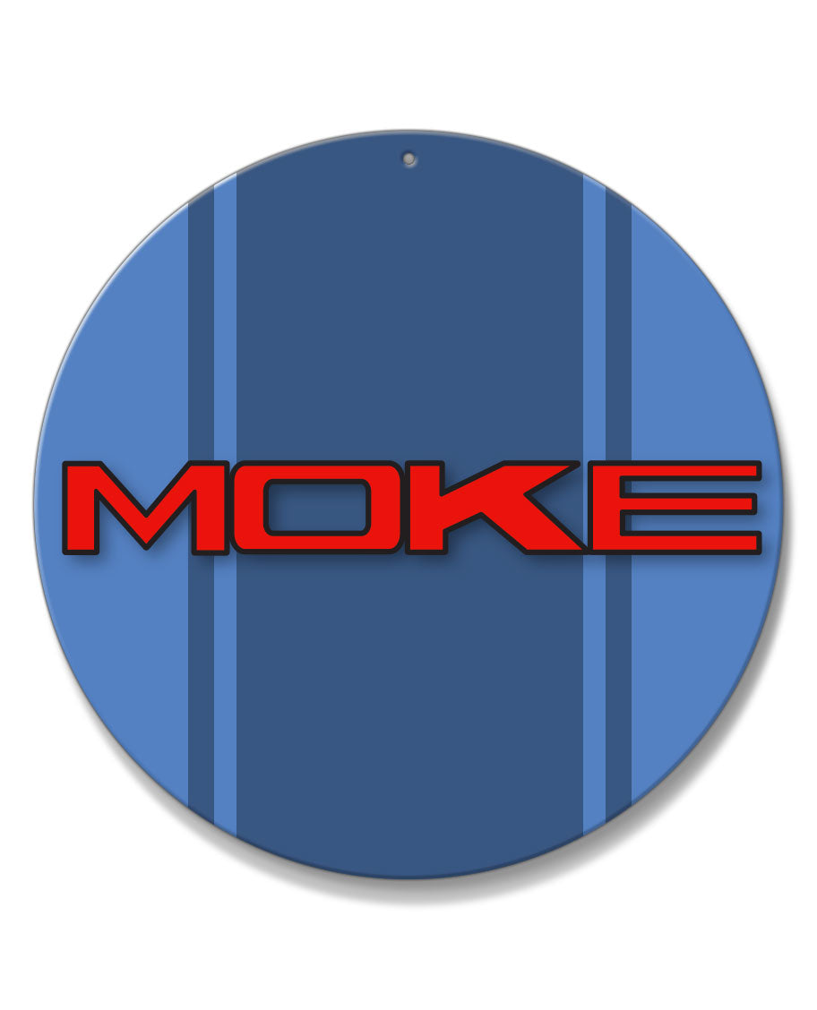 Mini Moke Emblem Round Aluminum Sign