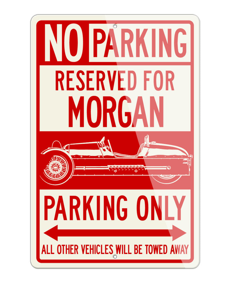 Morgan Three-Wheeler Aero Super Sport Reserved Parking Only Sign