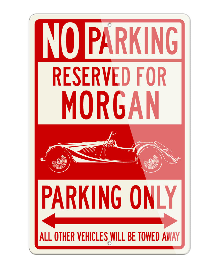 Morgan 4/4 Convertible Reserved Parking Only Sign