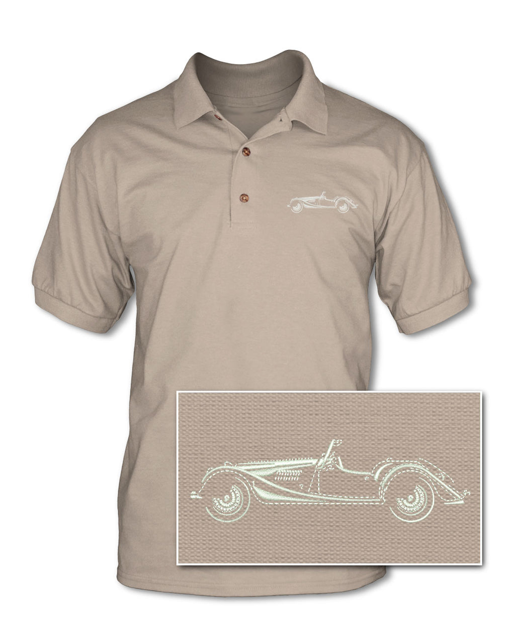Morgan 4/4 Convertible Adult Pique Polo Shirt - Side View
