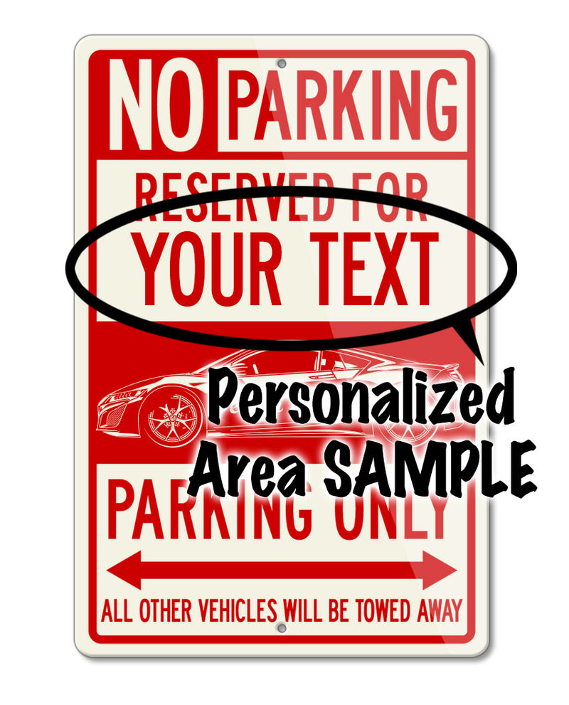 Chevrolet Camaro Coupe First Generation Reserved Parking Only Sign