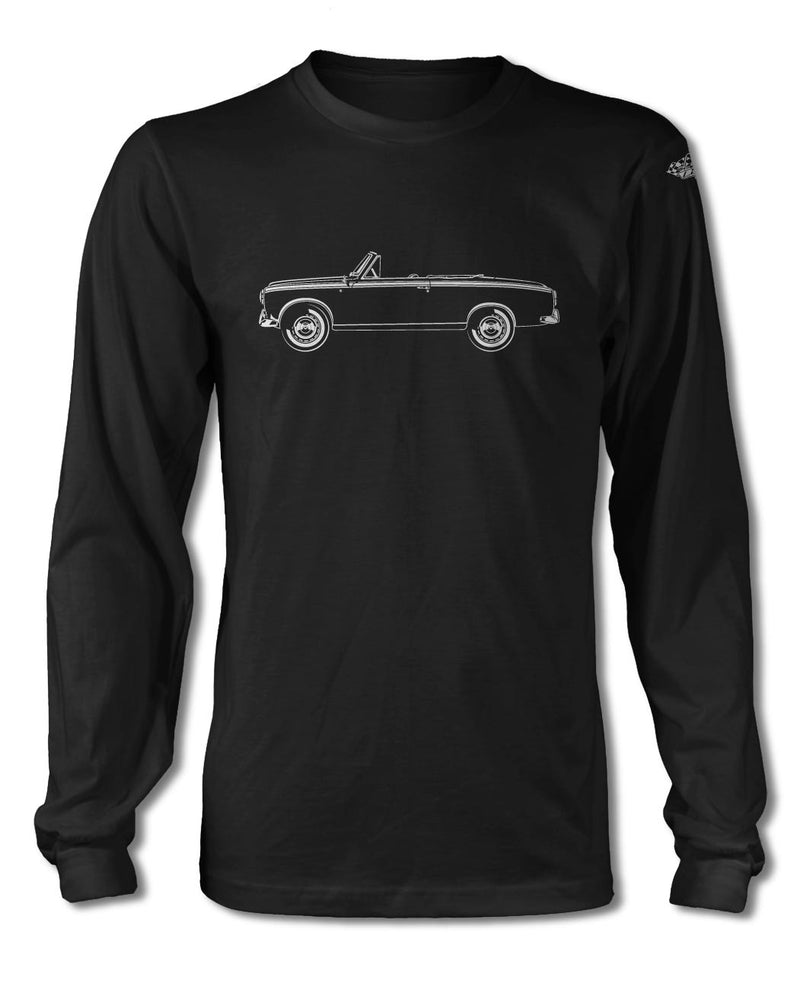 Peugeot 403 Convertible Cabriolet T-Shirt - Long Sleeves - Side View