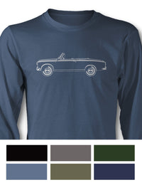Peugeot 403 Convertible Cabriolet Long Sleeve T-Shirt - Side View