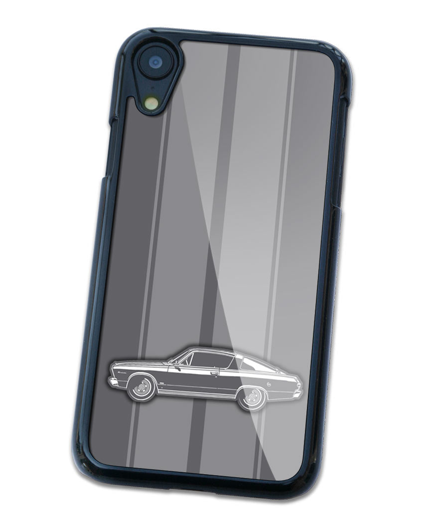 1966 Plymouth Barracuda Fastback Smartphone Case - Racing Stripes