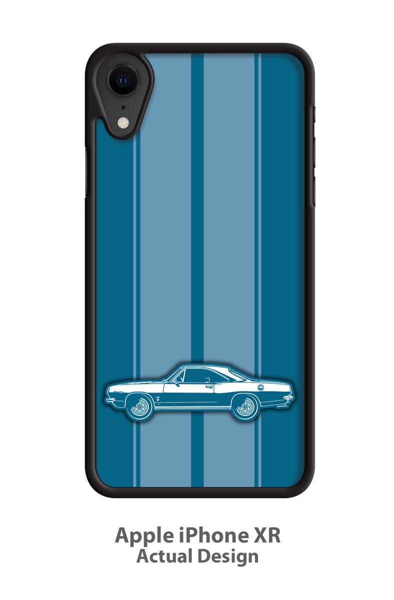 Plymouth Barracuda 1967 Coupe Smartphone Case - Racing Stripes