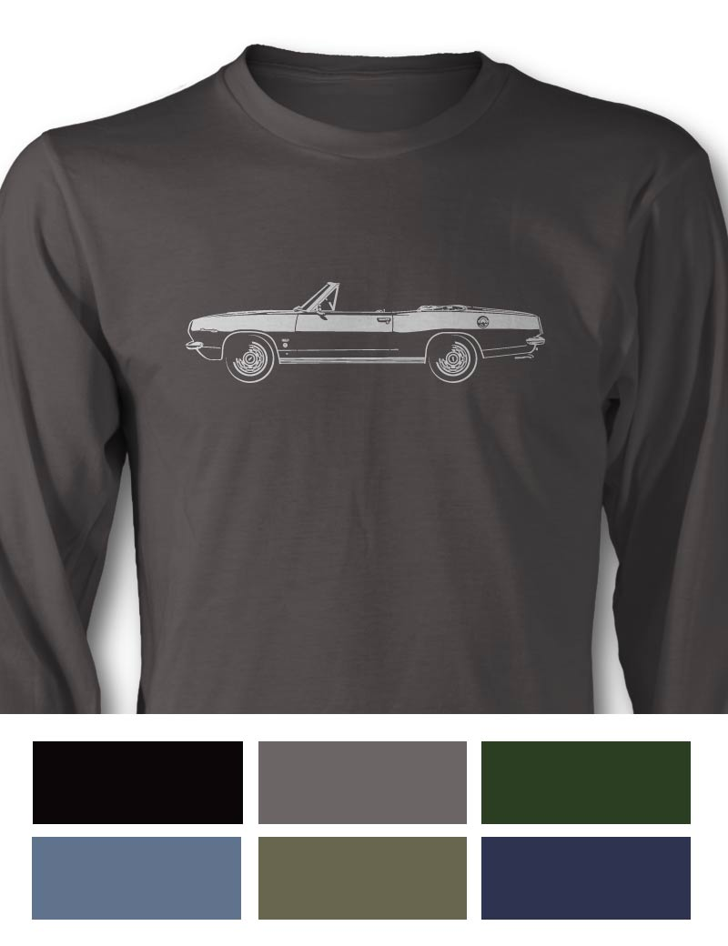 Plymouth Barracuda 1967 Convertible Long Sleeve T-Shirt - Side View