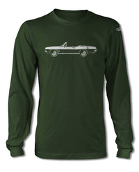 1967 Plymouth Barracuda Convertible T-Shirt - Long Sleeves - Side View