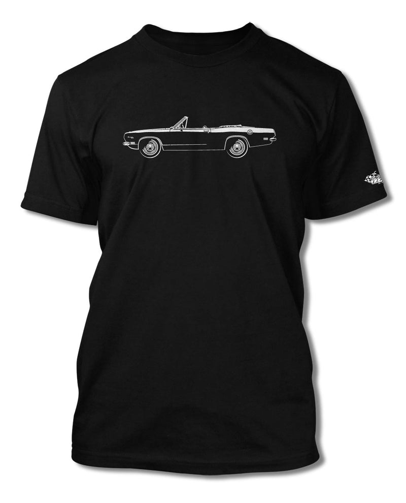1969 Plymouth Barracuda Convertible T-Shirt - Men - Side View