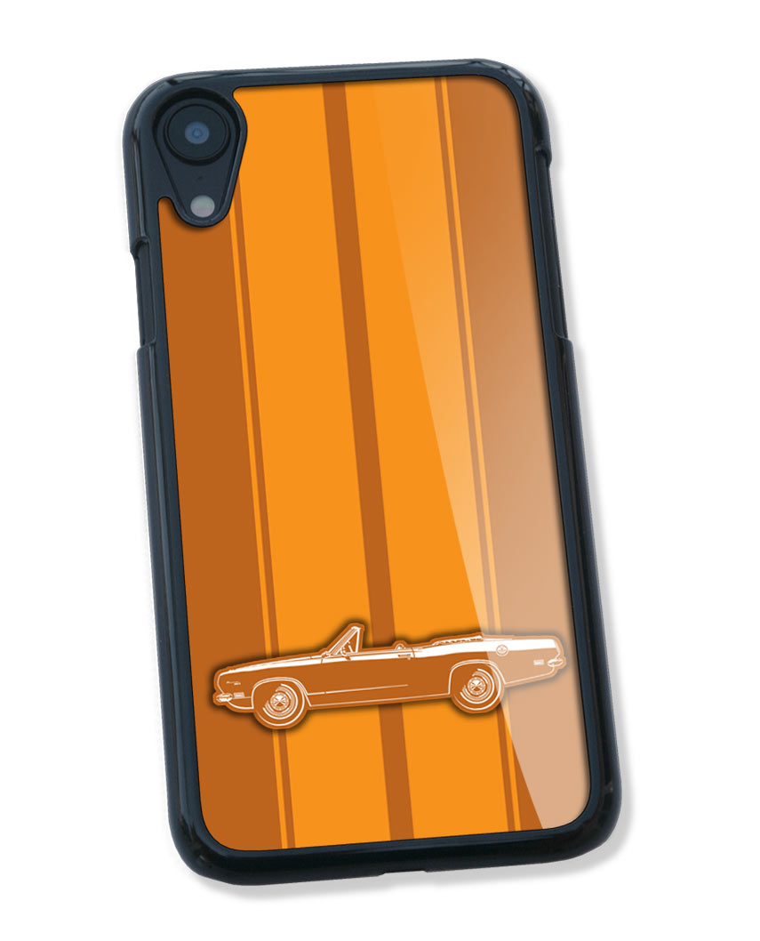 1969 Plymouth Barracuda Convertible Smartphone Case - Racing Stripes