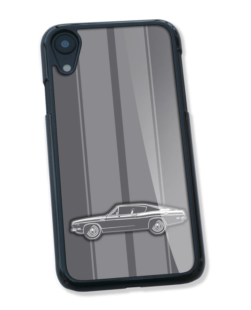 1969 Plymouth Barracuda 340 Fastback Smartphone Case - Racing Stripes