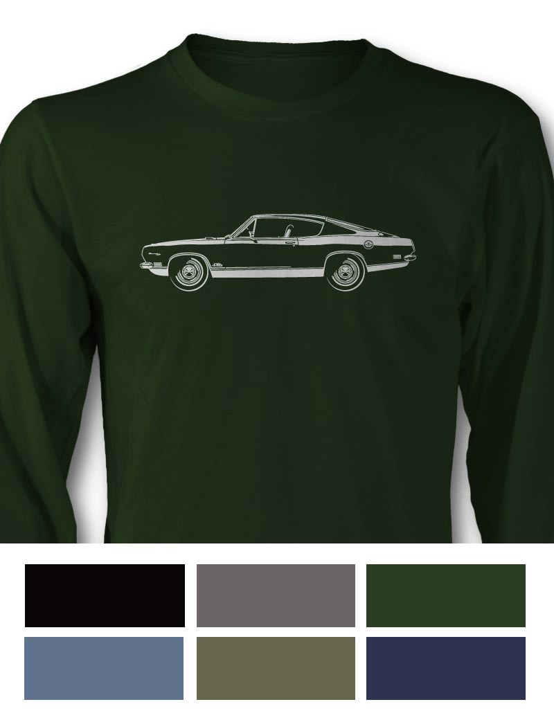 Plymouth Barracuda 1969 Fastback 'Cuda 440 Long Sleeve T-Shirt - Side View