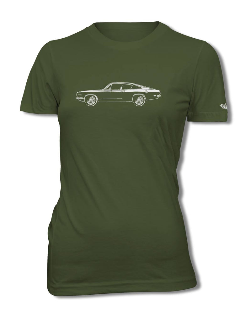 1969 Plymouth Barracuda Fastback T-Shirt - Women - Side View