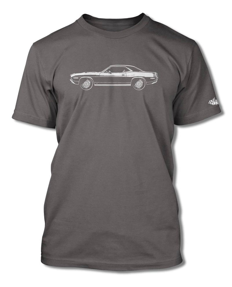 1970 Plymouth Barracuda 'Cuda 383 Coupe T-Shirt - Men - Side View