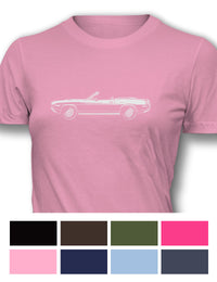 Plymouth Barracuda 'Cuda 1970 Convertible 383 Women T-Shirt - Side View