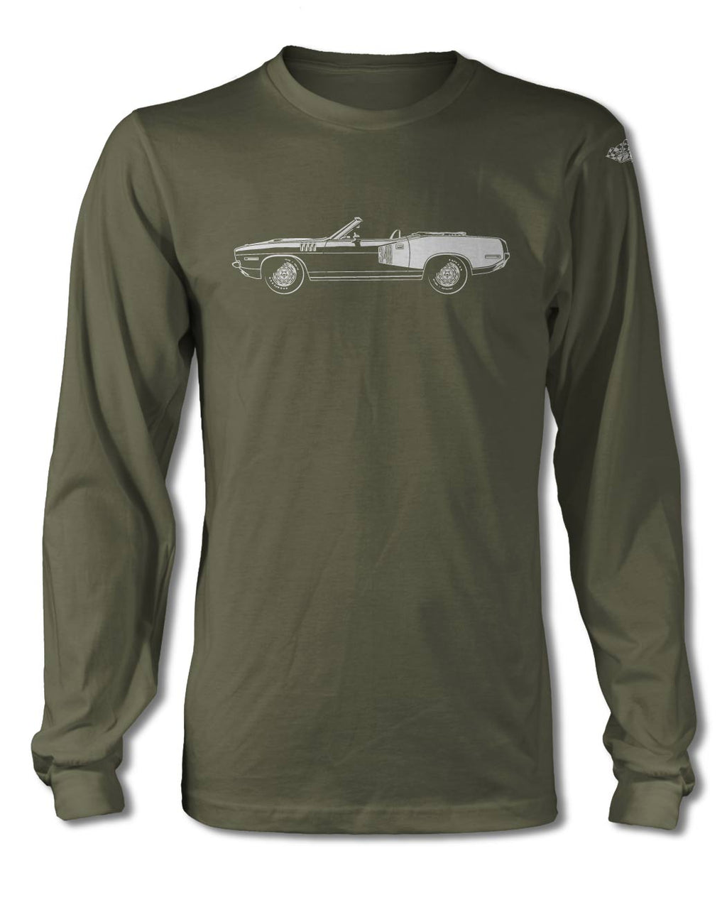 1971 Plymouth Barracuda 'Cuda 340 Convertible T-Shirt - Long Sleeve - Side View
