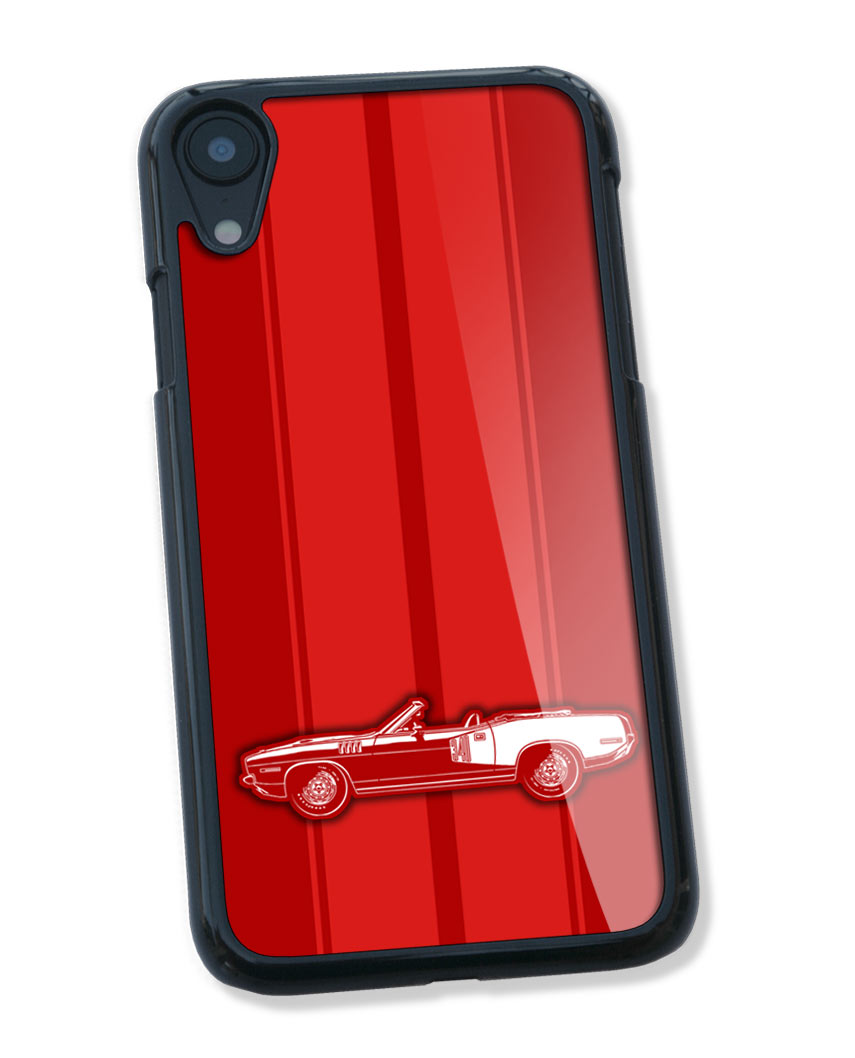 1971 Plymouth Barracuda 'Cuda 340 Convertible Smartphone Case - Racing Stripes