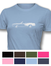 Plymouth Barracuda 'Cuda 1971 Convertible 340 Women T-Shirt - Side View